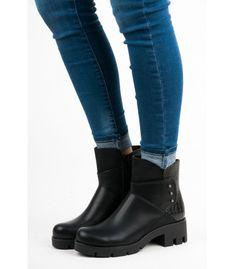 Dámske členkové topánky s protektorom 6232-1B b5044850adc