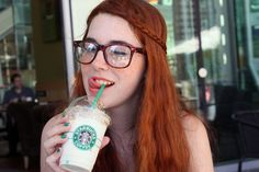 Girl With Glasses Red Hair Braid