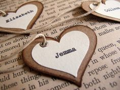 Unique Wedding Place Card Favor Tags  Rustic by joblake on Etsy