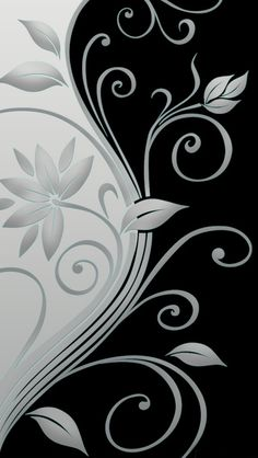 Beautiful vector flowers iPhone Wallpapers