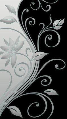 Beautiful vector flowers iPhone Wallpapers
