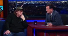 Michael Moore tells Colbert that a president named 'Hussein' and legal weed have driven conservatives insane