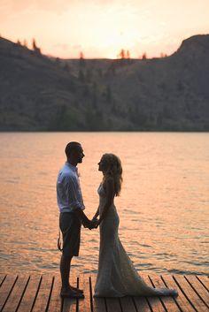 Sunset Portrait, Bride and Groom // Jarusha Brown Photography // Okanagan Falls wedding, Okanagan wedding, Okanagan wedding photographer, Okanagan bride, Okanagan elopement, Penticton wedding, Naramata wedding