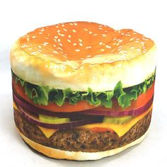 Hamburger Beanbag Chair. Want this for my office. Kids would love to sit on it!!