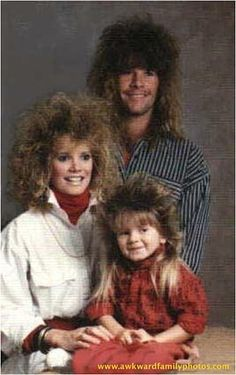 Exhibit A in the case against any return to 80s style. And I don't remember this hair on smallish kids.