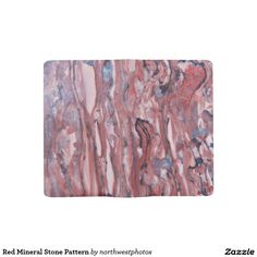Red Mineral Stone Pattern Large Moleskine Notebook
