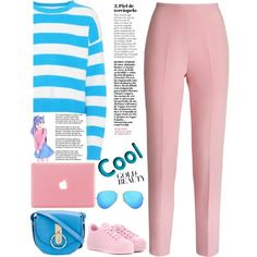 color beauty by licethfashion on Polyvore featuring polyvore, fashion, style, Diane Von Furstenberg, Esme Vie, Kenzo, Nina Ricci, Ray-Ban and clothing
