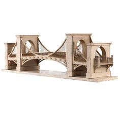 Model of Bridge - circa 1910 wood Popsicle Stick Crafts House, Balsa Wood Models, Laser Cutter Ideas, Model Train Layouts, Architectural Models, Wooden Art, Paper Models, Model Trains, Cool Furniture