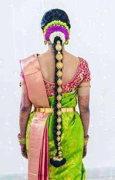 ℳanmathan November 17 2018 at South Indian Wedding Hairstyles, Bridal Hairstyle Indian Wedding, South Indian Bride Hairstyle, Indian Bridal Fashion, Indian Hairstyles, Bride Hairstyles, Kerala Saree Blouse Designs, Bridal Blouse Designs, Bridal Braids