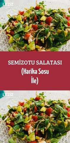 Purslane Salad (With Wonderful Sauce)- Semizotu Salatası (Harika Sosu İle) Purslane Salad (With Wonderful Sauce) - Salad Recipes For Dinner, Chicken Salad Recipes, Healthy Salad Recipes, Yummy Recipes, Yummy Food, Healthy Comfort Food, Healthy Eating Tips, Turkish Recipes, Ethnic Recipes