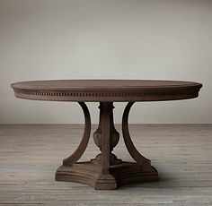 James Round Dining Table from Restoration Hardware not necessarily this color Kitchen Table Bench, Kitchen Nook, Round Dining Table, Dining Room Table, Table And Chairs, Kitchen Decor, Wood Furniture Legs, Dining Room Furniture, Breakfast Nook Table