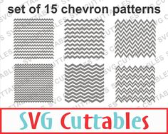 Chevron set of 15 patterns, SVG, EPS, DXF, Chevron Vectors, Digital Cut File by SVGCUTTABLES on Etsy