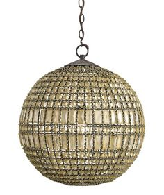 """Bliss Home and Design Portico pendant.  27""""H x 21""""D. $1590."""