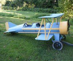 The Flyin' Lion Cardboard barrel biplane: http://www.instructables.com/id/Cardboard-barrel-biplane-The-Flyin-Lion/