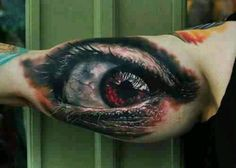 Eye Tattoo - Best Tattoos Ever - 26 by the Best Tattoo Artists in the world Amazing 3d Tattoos, Best 3d Tattoos, Evil Tattoos, Beautiful Tattoos, Body Art Tattoos, Tattoos For Guys, Warrior Tattoos, Strange Tattoos, Insane Tattoos