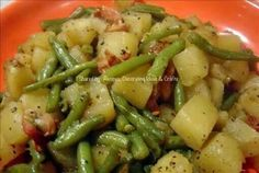Crockpot Ham, Green Beans, Potatoes