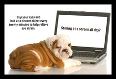 Stare at a computer the whole day? Take extra care of your eyes. Stress And Health, Health Tips, Eyes Health, Laser Eye Surgery, Life Extension, Healthy Eyes, Optometry, Natural Eyes, Eye Strain