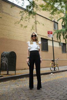 Jumpsuit: ASOS. Shoes: Christian Louboutin. Sunglasses: Karen Walker 'Super Duper'. Clutch: Anya Hindmarch. Bow Belt: Milly NY. Lips: Stila 'Beso'. Jewelry: Cartier, Hermes, David Yurman, Pomellato, Brandy Pham.