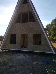 Дом подписчика #1 A Frame House, Cabin, House Styles, House Ideas, Inspiration, Home Decor, Alpine House, Home, House