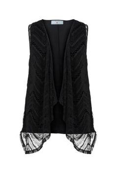 Avenue Plus Size Sleeveless Crochet Vest