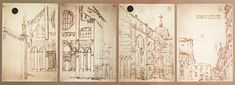 Canaletto Accademia Venice Canaletto | Four Sheets of Views of the Campo San Giovanni e Paolo, Venice | Pen and Brown Ink on Cream Paper | Gallerie dell'Accademia | Venice