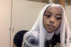 "KAY OTTO on Twitter: ""Lil Danny Phantom… "" Baddie Hairstyles, Black Girls Hairstyles, Pretty Hairstyles, Girls Natural Hairstyles, Weave Hairstyles, Straight Hairstyles, Pretty Black Girls, Beautiful Black Girl, Black Girl White Hair"