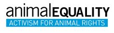 Animal Equality is an international non-profit organisation dedicated to achieving equal consideration and respect for animals and promotes a vegan lifestyle. Currently active in the UK, Italy, Spain, Venezuela and India.