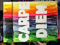 My first melted crayon craft :) gonna make this for my grandma since this is like her fav saying