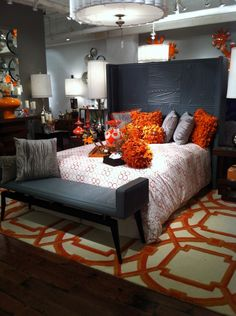 Orange and grey, trending color scheme.