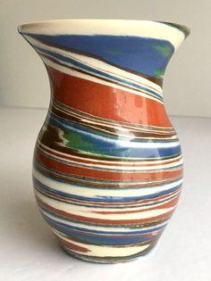"Vintage DESERT SANDS Pottery Vase 4"" Mission Swirl 50th Anniversary Edition VGUC #DesertSands #MissionSwirl"