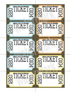 Ticket Raffle Templates On Google   Google Search Regard To Free Numbered Raffle Ticket Template