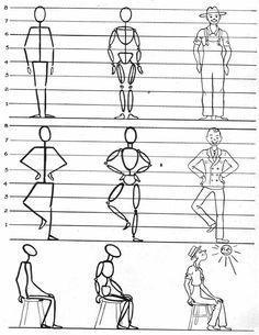How to draw a cartoon man Stick Figure Drawing, Human Figure Drawing, Figure Sketching, Gesture Drawing, Body Drawing, Anatomy Drawing, Basic Drawing, Drawing Skills, Drawing Techniques