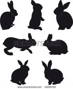 Rabbit vector - stock vector
