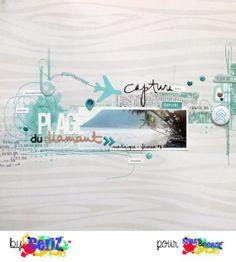 #papercraft #scrapbook #layout.  page de ceriz chez sprayandscrap