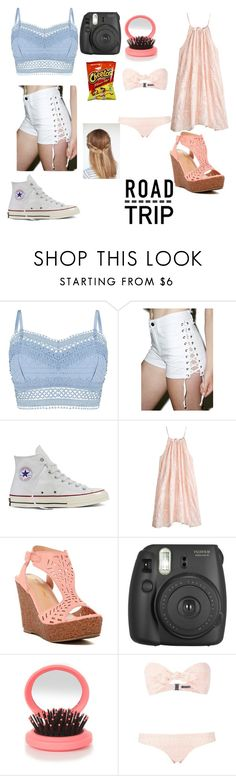 """Road Trip"" by strangelifexox ❤ liked on Polyvore featuring Lipsy, Tripp, Converse, Calypso St. Barth, Chase & Chloe, New Look, Lisa Marie Fernandez and summerroadtrip"