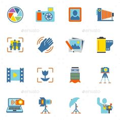 Photography Icons Flat   Buy and Download: http://graphicriver.net/item/photography-icons-flat/8898982?WT.ac=category_thumb&WT.z_author=macrovector&ref=ksioks