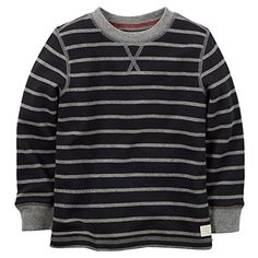 Camp Clothing - Carters Little Boys Striped Thermal Shirt 5 Black >>> Want to know more, click on the image.