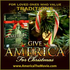 Christmas Tradition #14: Candy Canes. Facebook Christmas campaign for the Dinesh D'Souza film, AMERICA: Imagine the World Without Her.
