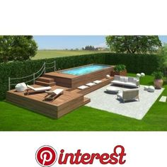 Cool Small Backyard Pool Ideas Landscaping Design Browse swimming pool designs to get inspiration for your own backyard oasis. Discover pool deck ideas and landscaping options to create your poolside dream. Above Ground Pool Landscaping, Above Ground Pool Decks, Small Backyard Pools, Backyard Pool Landscaping, Backyard Pool Designs, Above Ground Swimming Pools, Swimming Pools Backyard, Swimming Pool Designs, In Ground Pools
