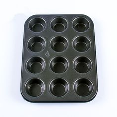 Heavy duty carbon steel, non-stick cupcake baking tray,12 mini cup cupcake shaped cake pan,