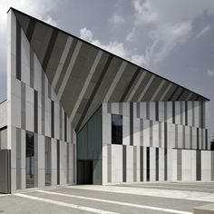 Milan church with a grey, striped exterior by Italian studio Cino Zucchi Architetti.