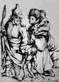 Family of Gypsies Master of the Housebook, ca. 1475-80, drypoint