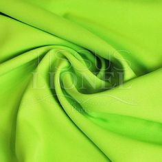 POLYESTER TOILLE UNI VERT ANIS, LARGEUR 150 CM, 100% POLYESTER