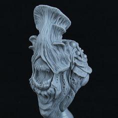 Mushroom Bust | Heartwood Realm Sculptures, Lion Sculpture, Model Kits, Wearable Art, Sculpting, Stuffed Mushrooms, It Cast, Statue, Painting