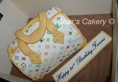 LV bag Cake