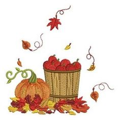 Fall Greetings embroidery design