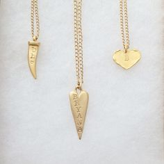 Personalized necklaces by Long Lost Jewelry