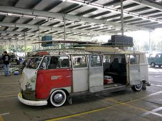 Stretch VW Bus by KDFKID, via Flickr