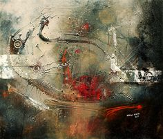 """Adriano Borges Ribeiro 'Deluxe Initiations', Acrylic, ink, oil and spray paint on canvas, 23.6"""" x 27.6"""""""