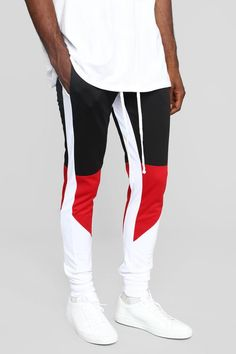 Available In Black/Red,Green/Red And Purple/ComboElastic Ribbed WaistExtended DrawstringSide Hand PocketsBack Pouch PocketRibbed Cuff Polyester Track Pants Mens, Mens Jogger Pants, Sports Trousers, Men's Pants, Indie Outfits, Jogger Outfit, Mens Activewear, Moda Fitness, Mens Clothing Styles